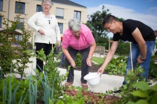 Vor unserer Tür ist ein großer Garten, in dem wir auch Gemüse anpflanzen. (Foto: SMMP/Beer)